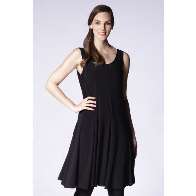 Fit & Flare Dress in Black