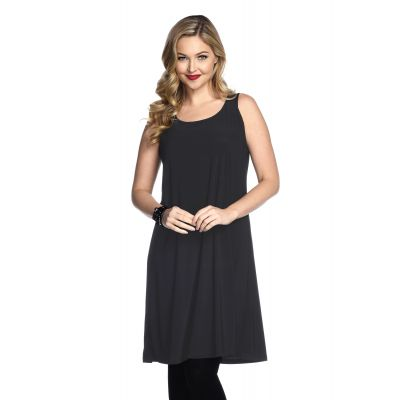 Simple Sleeveless Dress in Dark Grey
