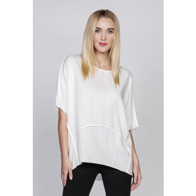 Jersey Batwing Sleeve Top in Ivory