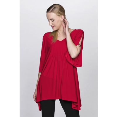 Split Sleeve Tunic in Red