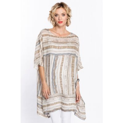 Striped Overlay Tunic Top