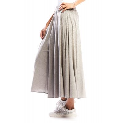 Extra-Wide Thin Striped Culottes