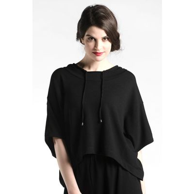 Athleisure Oversize Top in Black