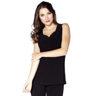 Sweetheart Neckline Top in Black