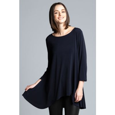 High-Low Tunic in Navy