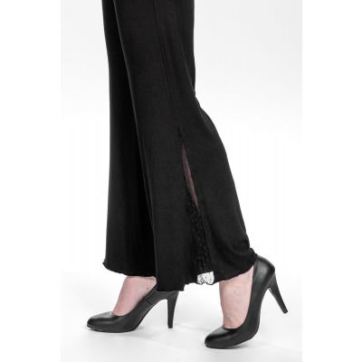 Lace Detail Wide Leg Pants