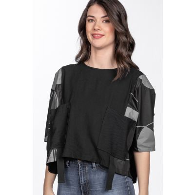 Oversize Short Sleeve Top in Grey
