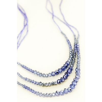 Multi-Strand Beaded Necklace in Sky