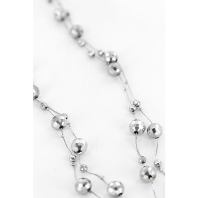 Gem Necklace with Extension in Silver