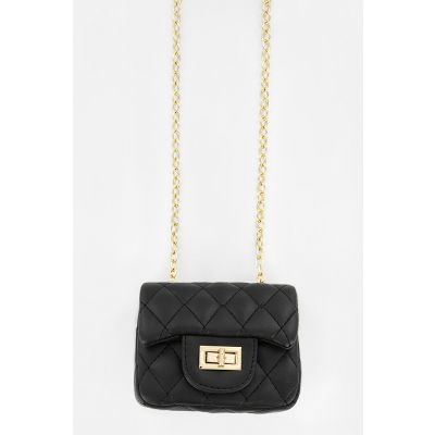Mini Quilted Purse in Black